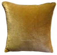 LARGE SIZE SOFT FEEL VELVET PLUSH STYLISH DESIGNER CUSHION COVER LATTE BEIGE COLOUR